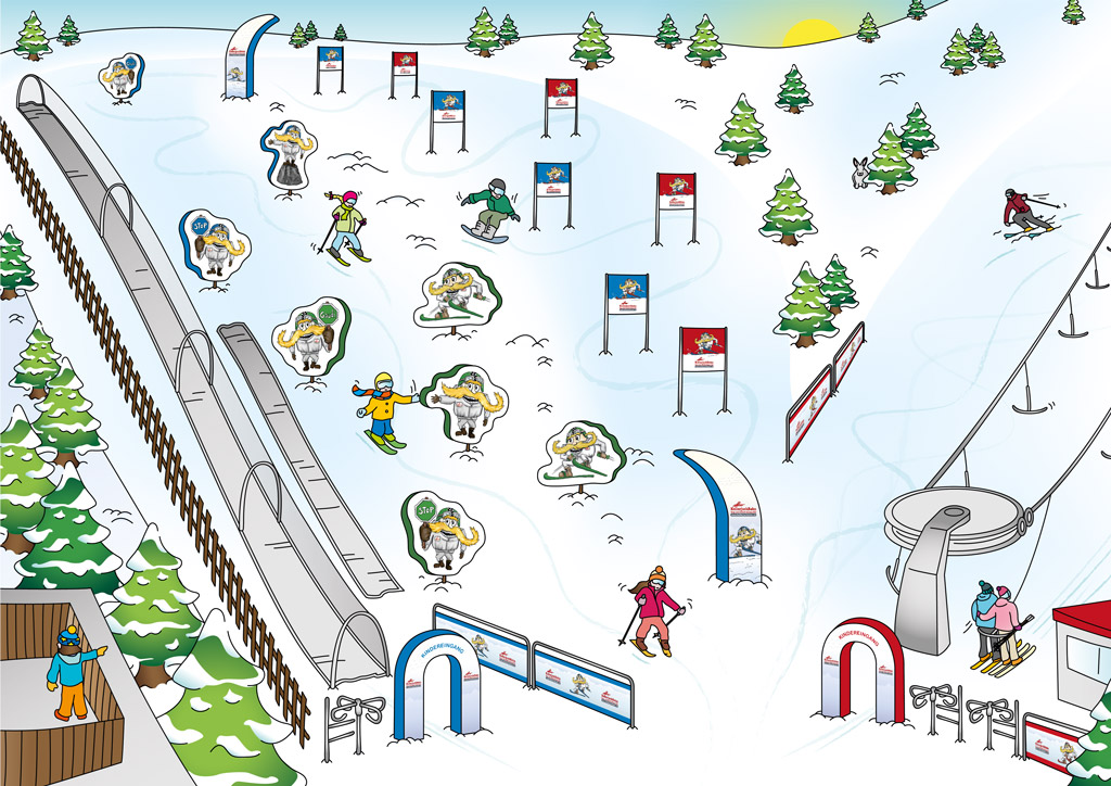 Kellerjochbahn Kinderland Illustration Small
